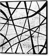 White On Black Canvas Print by Hakon Soreide