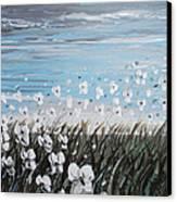 White Wildflower Breeze Canvas Print by Christine Krainock