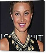 Whitney Port Wearing An Erickson Beamon Canvas Print by Everett
