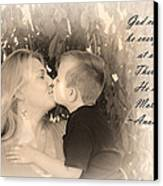 Why He Made Mothers Canvas Print by Kelly Hazel
