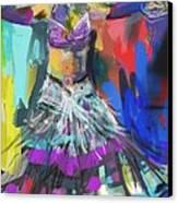 Wild Belly Dancer Canvas Print by Barbara Kelley