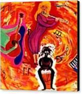 Wild Music Canvas Print by Eliezer Sobel