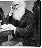 William Cullen Bryant, American Poet Canvas Print by Photo Researchers
