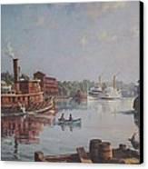 William G Muller Rondout Creek Canvas Print by Jake Hartz