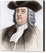 William Penn, English Coloniser Canvas Print by Sheila Terry