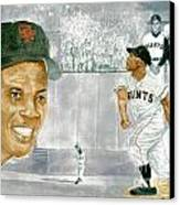Willie Mays - The Greatest Canvas Print by George  Brooks