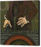Willie Von Goethegrupf Canvas Print by Patrick Anthony Pierson