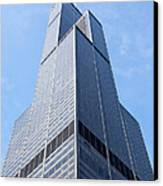 Willis-sears Tower In Chicago Canvas Print by Paul Velgos