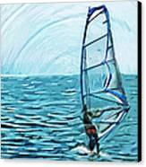 Wind Surfer Canvas Print by Tilly Williams