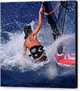 Wind Surfing Canvas Print by Manolis Tsantakis