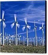 Wind Turbines, California, Usa Canvas Print by David Nunuk