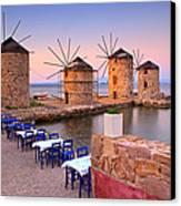 Windmills 2  Canvas Print by Emmanuel Panagiotakis