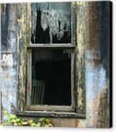 Window In Old Wall Canvas Print by Jill Battaglia