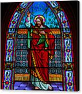 Window In Trinity Church Iv Canvas Print by Steven Ainsworth