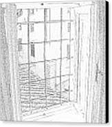 Window To History Canvas Print by Michael Belgeri