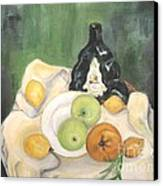 Wine And Fruit Canvas Print by Caroline Street
