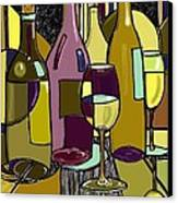 Wine Bottle Deco Canvas Print by Peggy Wilson