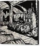 Wine Cellar Canvas Print by William Cauthern