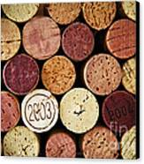 Wine Corks Canvas Print by Elena Elisseeva