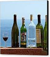 Wine In Mandatory In France Canvas Print by Chris Ann Wiggins