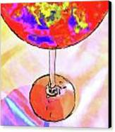 Wine Perpective Canvas Print by Joan  Minchak