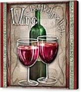 Wine Poetry Canvas Print by Sharon Marcella Marston