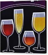 Wine Poster Canvas Print by Marsha Heiken