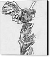 Winged Victory Of Samothrace Canvas Print by Manolis Tsantakis
