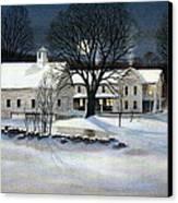 Winter Glow Canvas Print by Karol Wyckoff