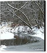 Winter In The Park Canvas Print by Kay Novy
