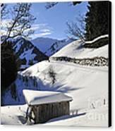 Winter Landscape Canvas Print by Matthias Hauser