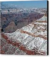 Winter's Touch At The Grand Canyon Canvas Print by Sandra Bronstein