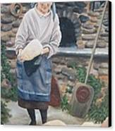 Woman Baking Bread  Canvas Print by Anna Poelstra Traga