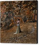 Woman In Green Gown  Canvas Print by Jill Battaglia