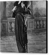 Woman Modeling Dress, A Frock Of Moon Canvas Print by Everett