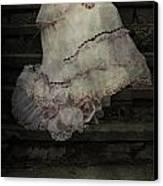 Woman On Steps Canvas Print by Joana Kruse