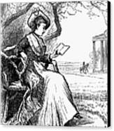 Woman Reading, 1876 Canvas Print by Granger