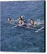 Women Swim In A Municipal Swimming Pool Canvas Print by B. Anthony Stewart