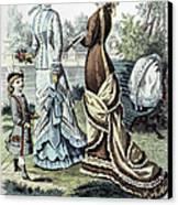 Womens Fashion, 1877 Canvas Print by Granger