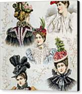 Womens Hat Designs For April, 1897 Canvas Print by Everett