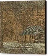Woodcut Cabin Canvas Print by Jim Finch