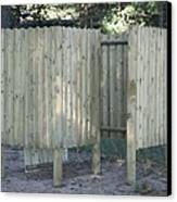 Wooden Beach Dressing Rooms Canvas Print by Jaak Nilson