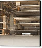 Wooden Pallets Stacked Up Canvas Print by Shannon Fagan