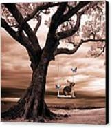 Woodland Swing Canvas Print by Sharon Lisa Clarke