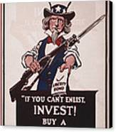 World War I, Poster Showing Uncle Sam Canvas Print by Everett