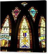 Wrc Stained Glass Window Canvas Print by Thomas Woolworth