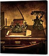 Writers Desk Canvas Print by Svetlana Sewell
