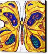 Yellow Butterfly Canvas Print by Kazuya Akimoto
