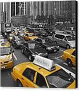 Yellow Cabs Ny Canvas Print by Melanie Viola