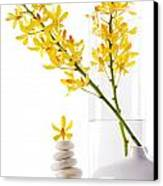 Yellow Orchid Bunchs Canvas Print by Atiketta Sangasaeng
